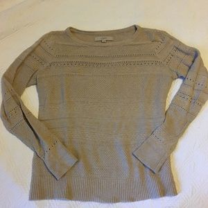 LOFT Pointelle Crewneck Sweater S